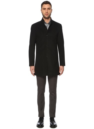 George Hogg Erkek 7003956 Slim Fit Palto Siyah